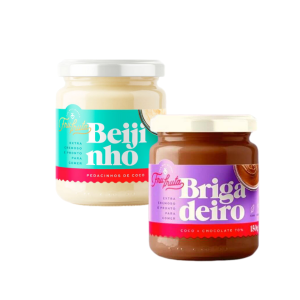 Kit 1 Beijinho + 1 Brigadeiro 70% 170gr - Frufruta