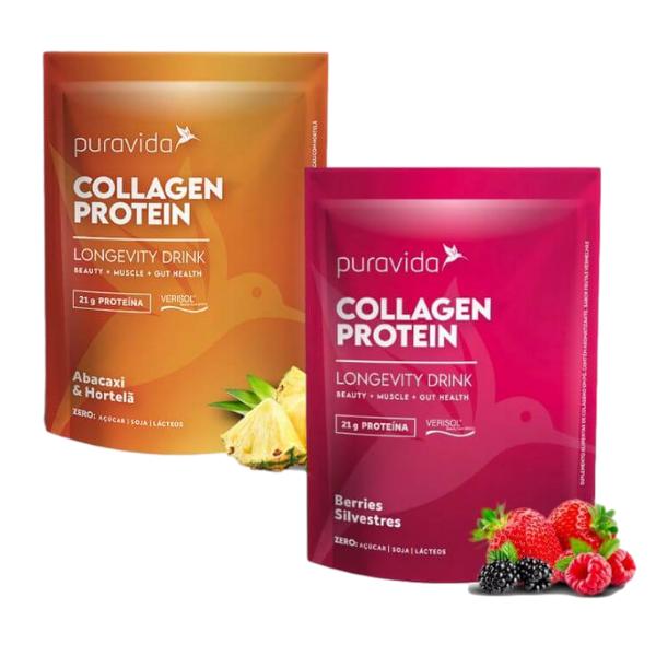 Kit 2 Collagen Protein Abacaxi E Berries 450gr - Pura Vida