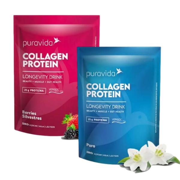 Kit 2 Collagen Protein Berries E Neutro 450gr - Pura Vida