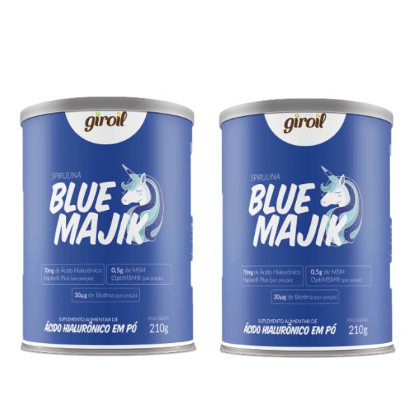Kit 2 Und - Blue Majik - Spirulina Azul E Ácido Hiluronico