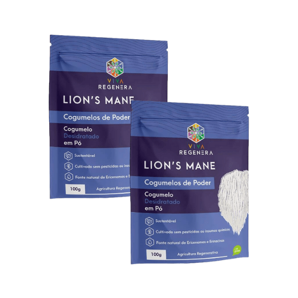 Kit 2 unds - Lions Cogumelos de Poder 100gr - Viva Regenera