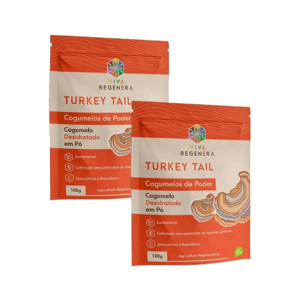 Kit 2 unds - Turkey Tail Cogumelos de Poder 100gr - Viva Regenera