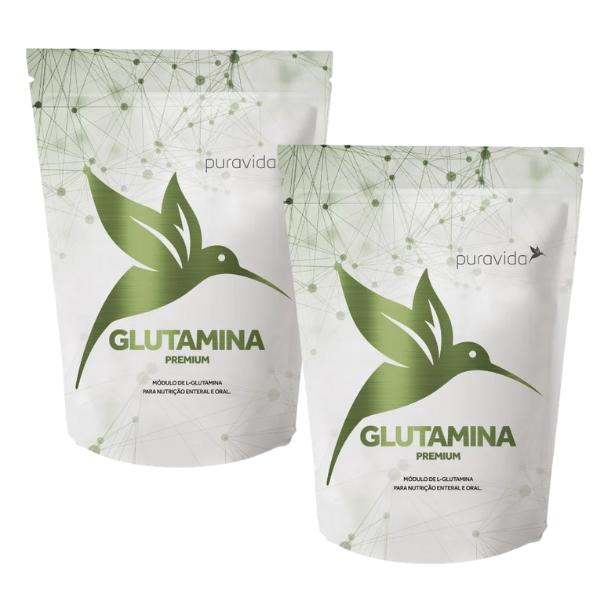Kit 2unds - Glutamina Premium 300gr Pack - Pura Vida