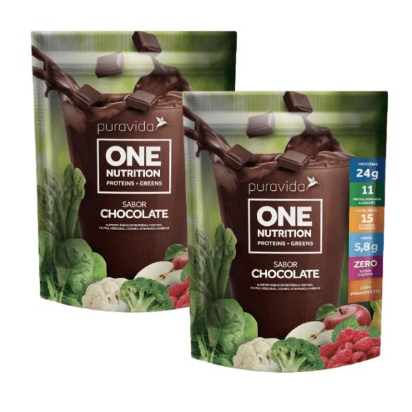 Kit 2unds One Vegan Nutrition Chocolate 450gr - Pura Vida