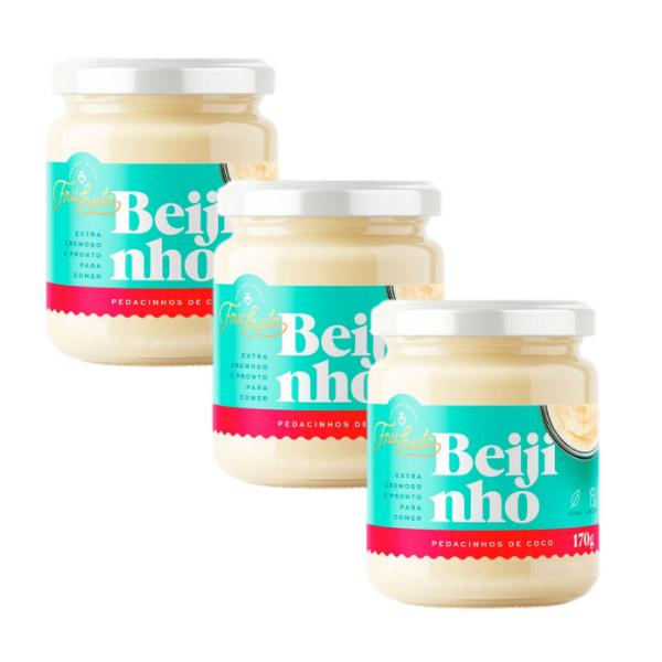 Kit 3und Beijinho Pedacinhos de Coco  170gr - Fru-fruta