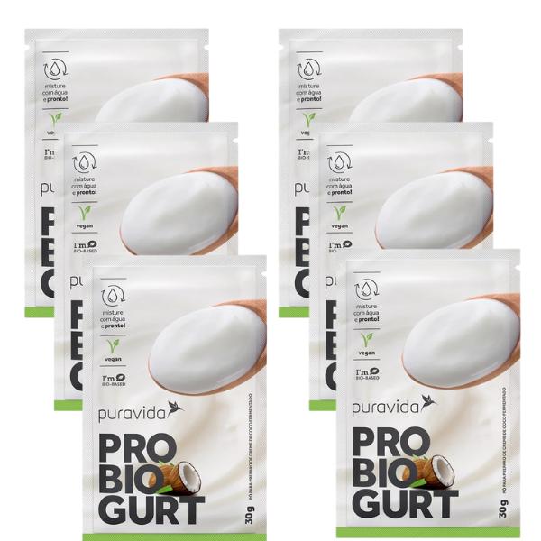 Kit 6unds De Probiogurt Natural Sachê 30gr - Pura Vida