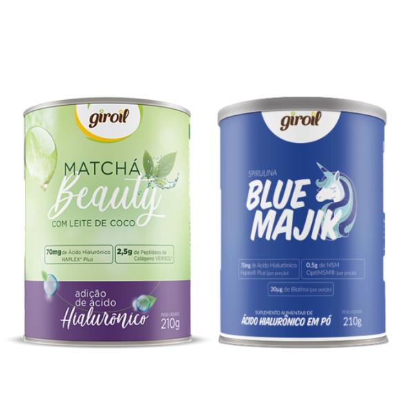 Kit Blue Majik 210g + Matcha Beauty 210gr - Giroil