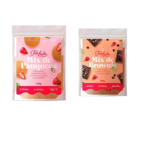 Kit Mix De Panqueca + 1 Mix De Brownie Fru-fruta