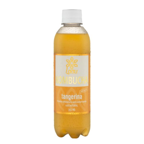Kombucha de Tangerina PET 355ml - Laau Kombucha