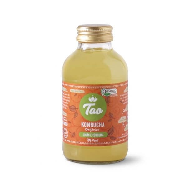 Kombucha Limão e Cúrcuma 350ml - Tao Kombucha