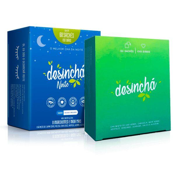 Leve 1 Desinchá 60 Sachês e Ganhe 50% Off no Desinchá Night 60 Sachês