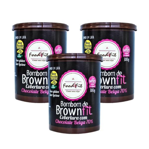 LEVE 3 PAGUE 2 Bombom Brownie Com Cobertura De Chocolate Belga Amor Em Lata 300g - Food4Fit