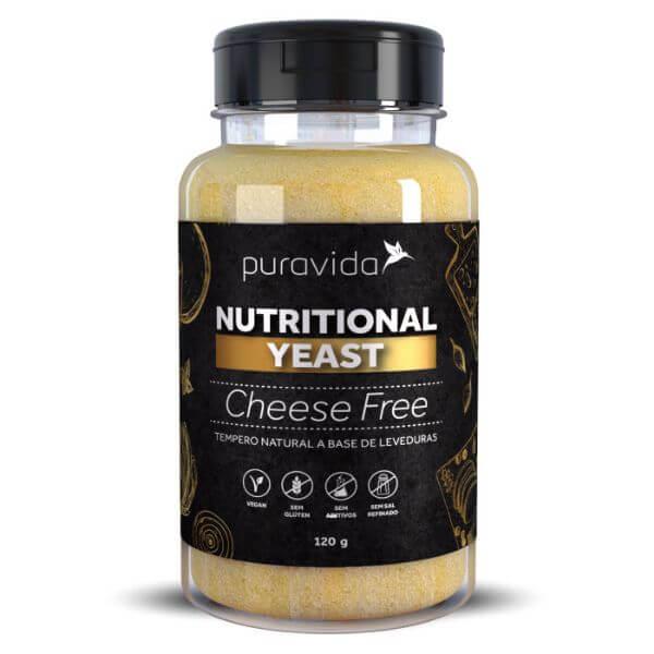 Levedura Nutricional(Nutritional Yeast) Sabor Cheese Free 120gr - Pura Vida