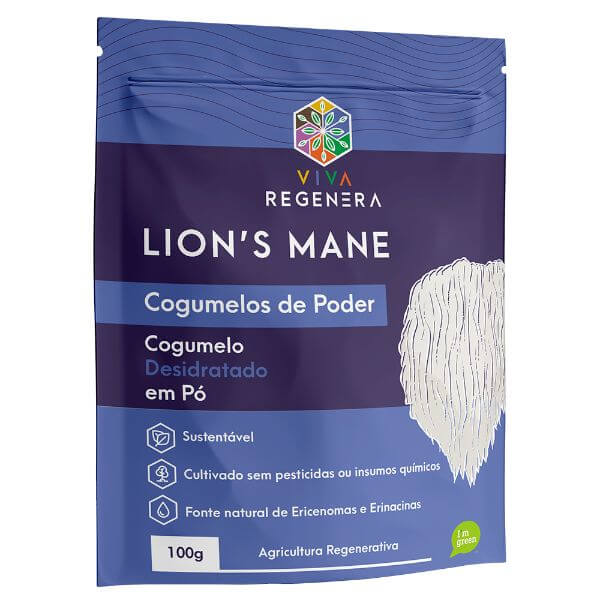 Lions Cogumelos de Poder 100gr - Viva Regenera