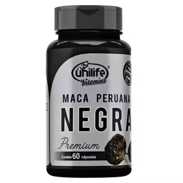 Maca Peruana Negra Premium 450mg 60 Cápsulas - Unilife