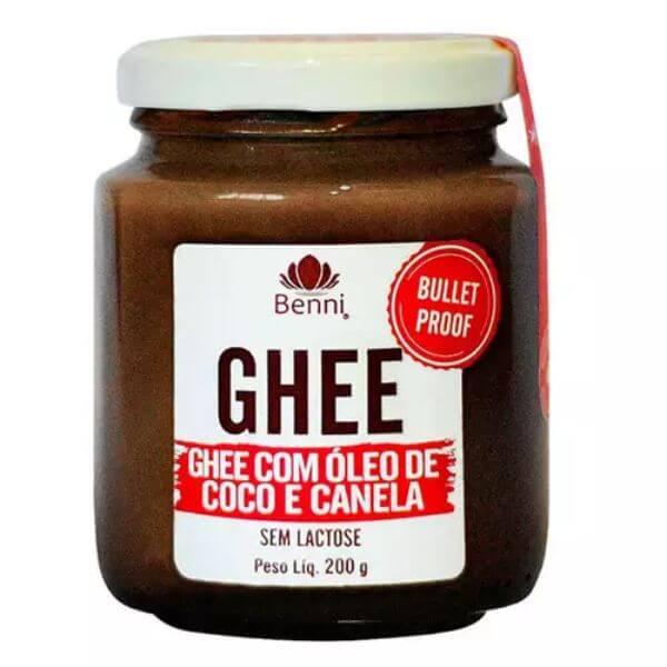 Manteiga Ghee Com Óleo de Coco e Canela 200gr - Benni