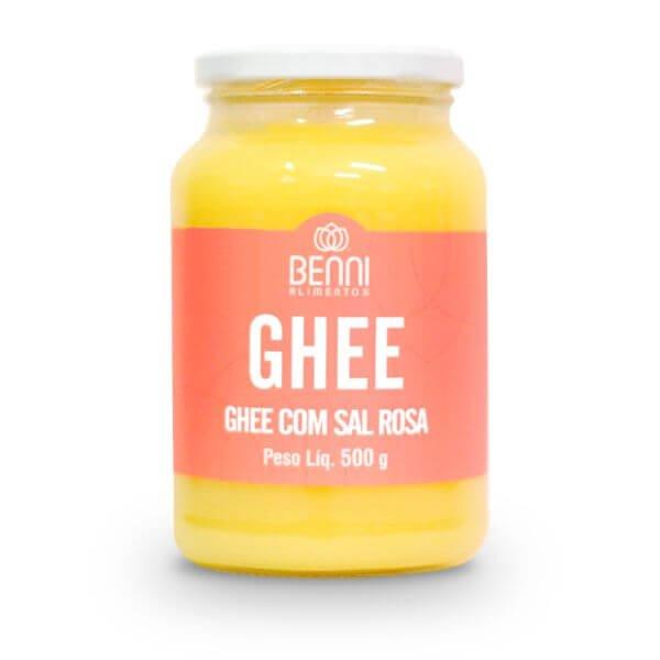 Manteiga Ghee Sal Rosa do Himalaia 500gr - Benni