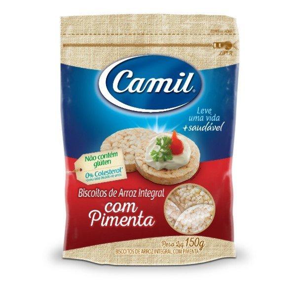 Mini Biscoitos De Arroz Integral Com Pimenta 150gr - Camil