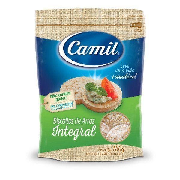 Mini Biscoitos De Arroz Integral Tradicional 150gr - Camil