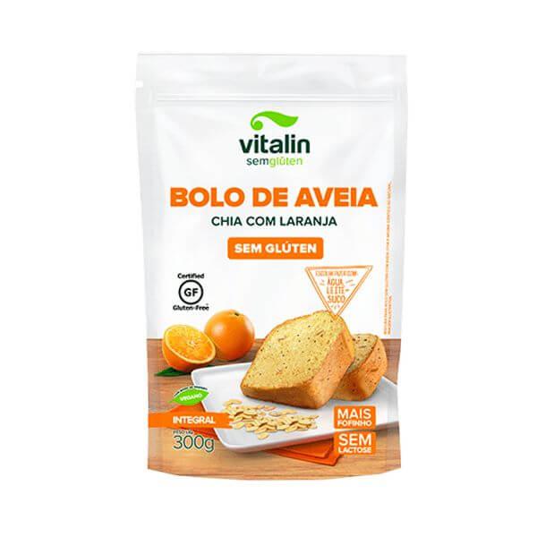 Mistura P/ Bolo Sem Glúten Aveia/Chia/Laranja 300G - Vitalin