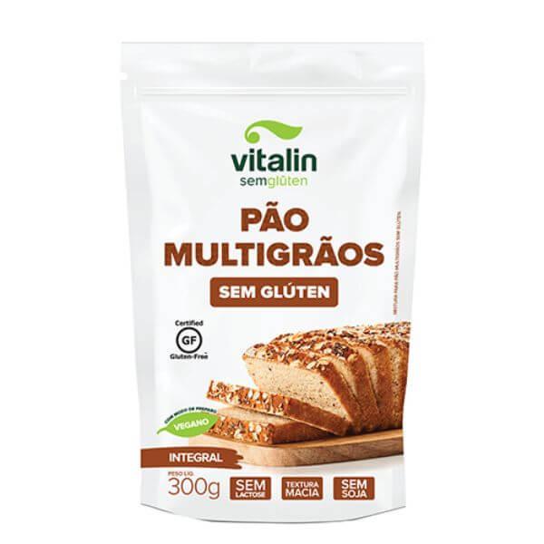 Mistura P/ Pão Multigrãos Integral Sem Glúten 300gr - Vitalin