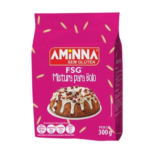 Mistura para Bolo FSG s/ Gluten 300g Aminna