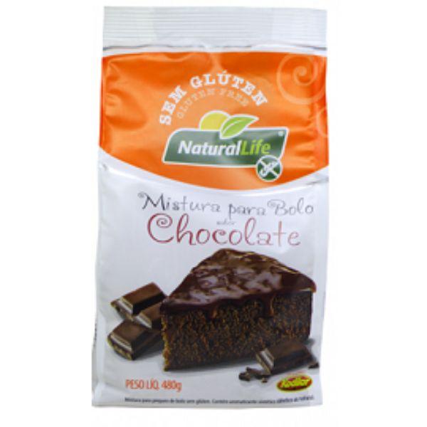 Mistura Para Bolo Sem Glúten Sabor Chocolate 480gr - Natural Life