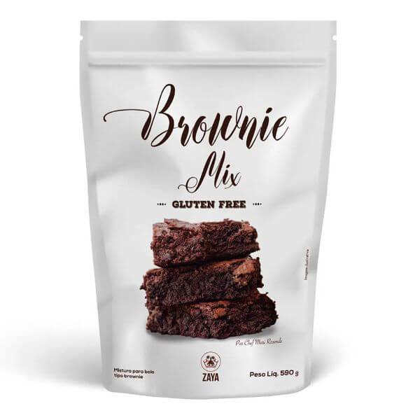 Mistura Para Brownie Sem Glúten 590G - Zaya