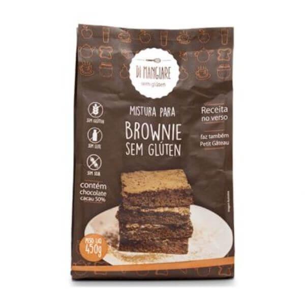 Mistura Para Brownie Sem Glúten E Sem Lactose 450gr - Di Mangiare