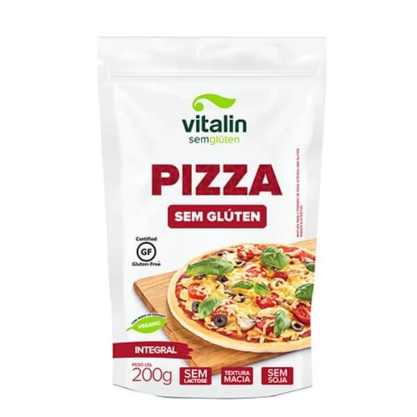 Mistura Para Pizza Sem Glúten Integral 200gr - Vitalin
