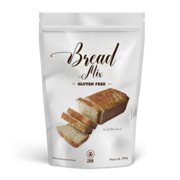 Mix Bread - Mistura Para Pão Sem Glúten 335gr - Zaya