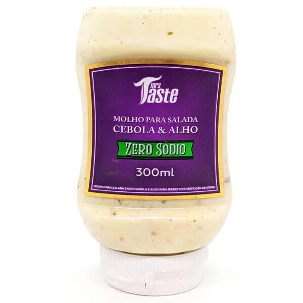 Molho Para Salada Cebola E Alho Zero Sódio E Açúcar 300ml - Mrs Taste