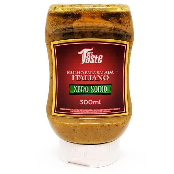 Molho Para Salada Italiano Sem Sal Zero Sódio E Açúcar 300ml - Mrs Taste