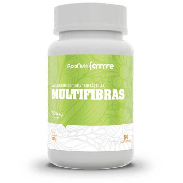 Multifibras 60 Cápsulas De 500mg - Apisnutri