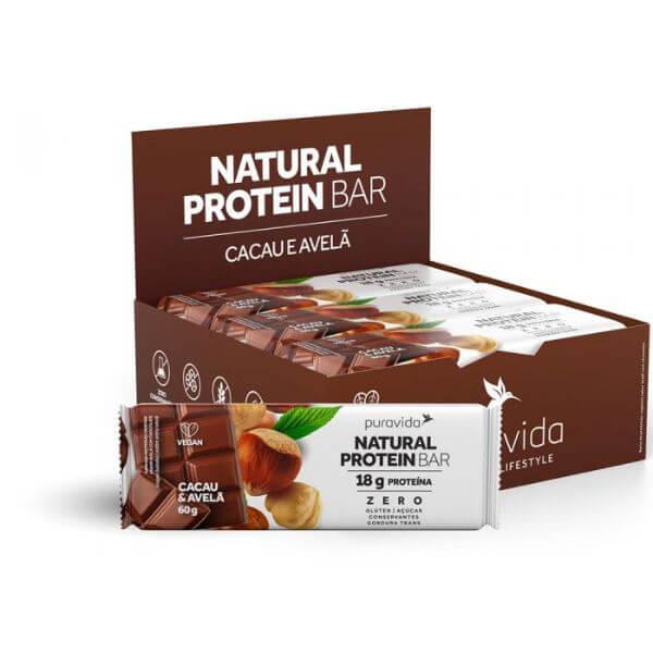 Natural Protein Bar Cacau E Avelã 60gr - Pura Vida