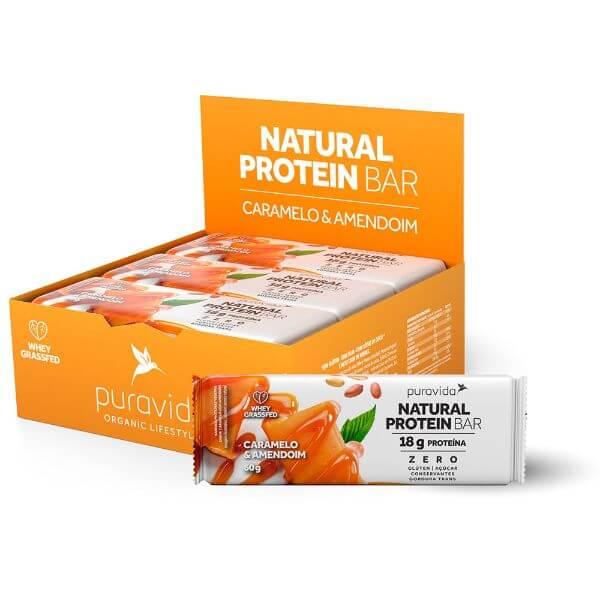 Natural Protein Bar Caramelo E Amendoim 60gr - Pura Vida