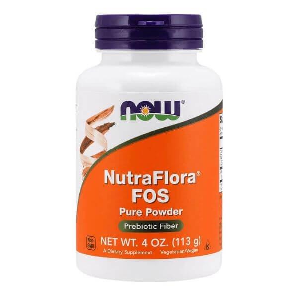 NutraFlora (Frutooligossacarideos) em Pó 113gr - Now