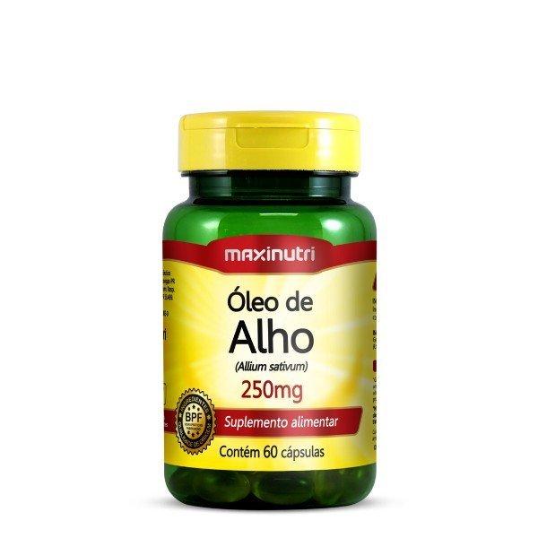 Óleo De Alho 60 Cápsulas De 250mg  - Maxinutri