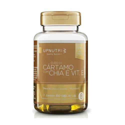 Óleo De Cartamo + Chia + Vitamina E 60 Cápsulas De 1000mg - Upnutri