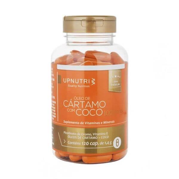 Óleo De Cartamo + Coco 120 Cápsulas De 1000mg - Upnutri