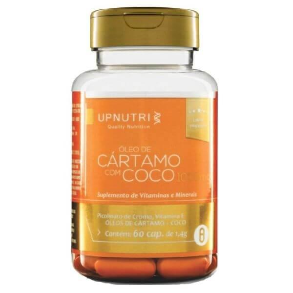 Óleo De Cartamo + Coco 60 Cápsulas De 1000mg - Upnutri