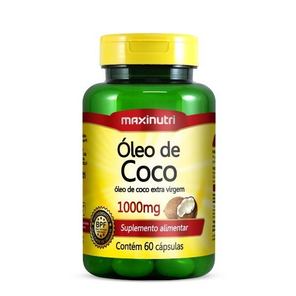 Óleo De Coco 60 Cápsulas De 1gr  - Maxinutri