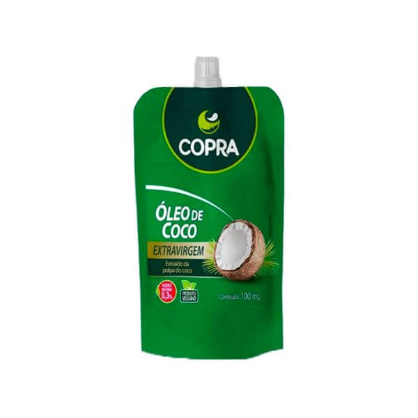 Óleo de Coco Extra Virgem Pounch 200ml - Copra