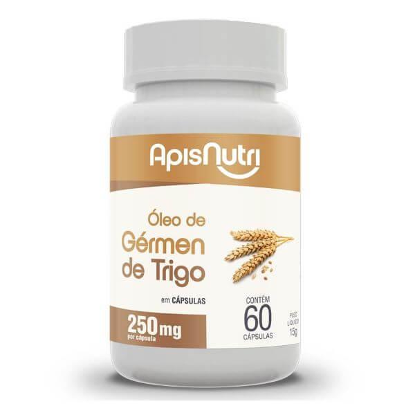 Óleo De Germe De Trigo 60 Cápsulas De 250mg - Apisnutri