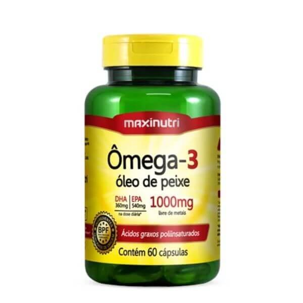 Omega 3 1000mg  60 Capsulas - Maxinutri