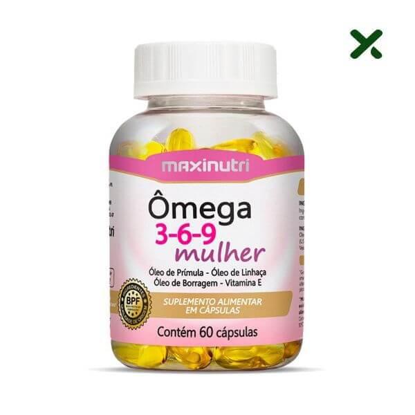 Omega 3/6/9 Mulher (Linhaça/Borragem/Primula/Vit E) 60 Capsulas - Maxinutri