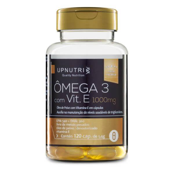 Ômega 3 Com Vitamina E 120 Cápsulas De 1000mg - Upnutri