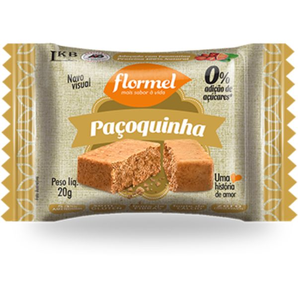 Paçoquinha Zero Açucar 20gr - Flormel