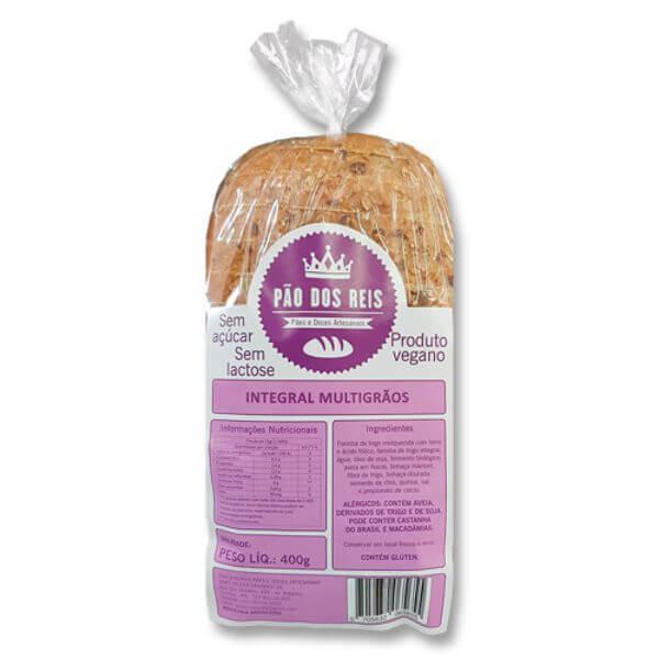 Pão 100% Integral  Multigraos 400gr - Pão Dos Reis