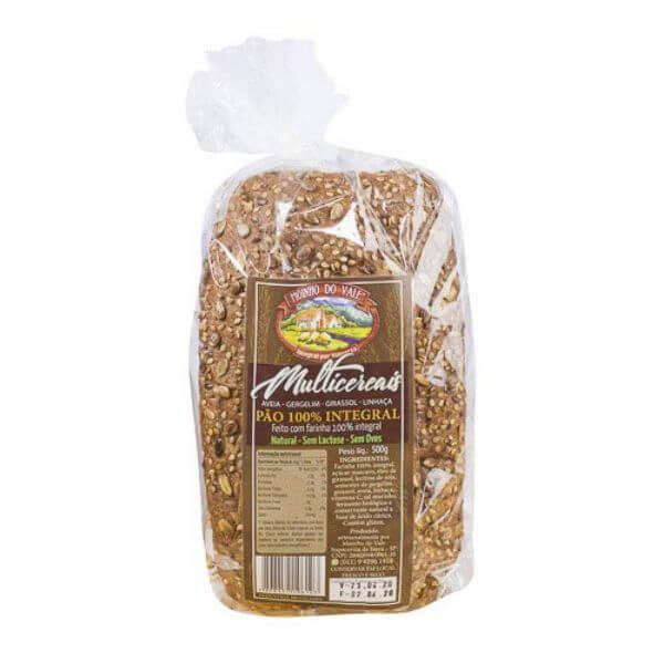 Pão 100% Integral Multigrãos - Moinho do Vale